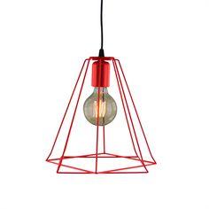 Suspensão SURAT VERMELHO Decor, Light, Lighting, Ceiling, Pendant Light, Home Decor, Ceiling Lights