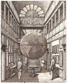 Entrance Hall with a globe
