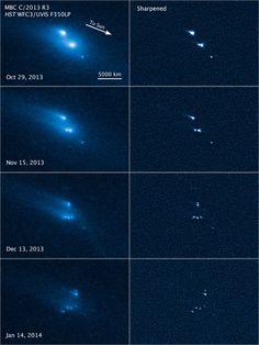Asteroid's 'bizarre' disintegration captured by Hubble