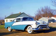 brought home a new 88 Holiday coupe… 1954 Vintage Cars, Antique Cars, 1950s Car, Oldsmobile 88, Old Cars, Cars And Motorcycles, Pin Up, Bring It On, Racing