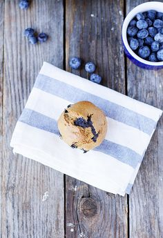 whole wheat banana blueberry muffins - Heather's French Press