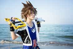 Sora from Kingdom Hearts by Kingdom Hearts Cosplay, Sora Kingdom Hearts, Cosplay Characters, Cosplay Tutorial, Body Reference, Best Couple, Cosplay Costumes, My Hero, Video Game