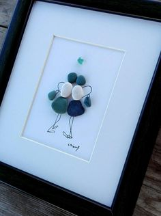 Pebble art friends Friends Sisters gift home decor for Sea Glass Crafts, Sea Glass Art, Stone Crafts, Rock Crafts, Wedding Gifts For Friends, Pebble Pictures, Rock And Pebbles, Outdoor Crafts, Art Friend