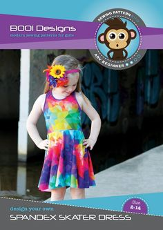PDF Pattern: Spandex Skater Dress