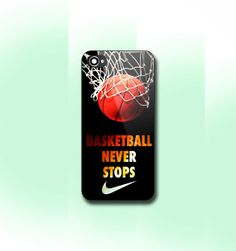Never Stop Nike Basketball    iPhone 4/4S case by CaseByViona, $13.99