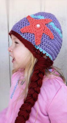 Ariel Hat by CreateAllCrochet on Etsy