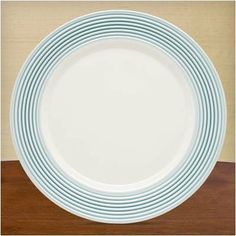 Tin Can Alley Seven Degree Dinner Plate in Blue [Set of 4] by Lenox. $79.80. 791730 Features: -Introduced 2008.-Microwave safe.-Material: Bone china.-Cleaning and Care: Dishwasher safe. Dimensions: -Dimensions: 11'' W.