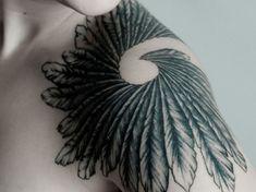Celtic Morrigan inspired tattoo