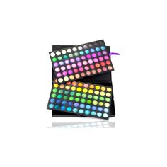 Shany Vivid Collection Bold and Bright 120-color Eye Shadow Kit... ($25) ❤ liked on Polyvore featuring beauty products, makeup, eye makeup, eyeshadow, shany eyeshadow, shany, mineral eye shadow, palette eyeshadow and mineral eyeshadow