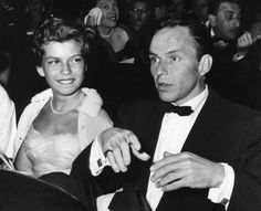Frank and and his daughter, Nancy Sinatra 1955
