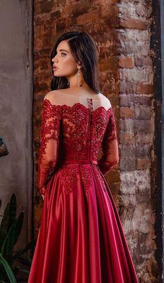 Blush Prom Dress, Blush Dresses, Prom Dresses, Dress Wedding, Bridesmaid Dress, Mom Dress, Dress Red, Lace Dress, Red Long Sleeve Dress