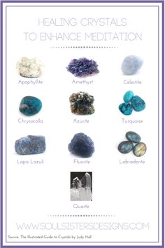 Healing Crystals to Enhance Meditations by Soul Sisters Designs