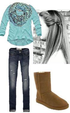 Hollister outfit- different jeans and scarf. Maybe a tan to go with the boots or something