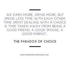 the paradox of choice quotes