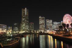 night view in Yokohama
