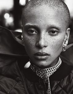 Adwoa Aboah is photographed by Mikael Jansson for Interview Magazine September 2016. Styled by Karl Templer. Hair by Shay Ashual. Make-up by Diane Kendal.