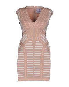HERVÉ LÉGER BY MAX AZRIA Women's Short dress Skin color XS INT