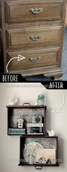 Excellent 39 Clever DIY Furniture Hacks – DIY Joy DIY Furniture Hacks | DIY Drawer Shelves | Cool Ideas for Creative Do It Yourself Furniture | Cheap Home Decor Ideas for Bedroom, Bathro ..