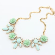 Fashion necklace, with #resin and #rhinestone, more colors for choice.