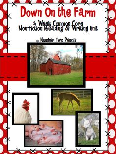 This is a four week Common Core, Non Fiction Reading and Writing unit that guides students through exploring non-fiction texts and researching a farm animal. The Reading and Writing lessons flow seamlessly, working together to give students the most holistic experience as they work towards their culminating research project. $