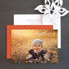 Happy Everything Holiday Photo Cards by Elli