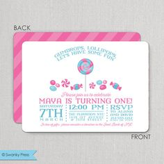 Cotton Candy Invites Cotton Candy Invitations Carnival Themed