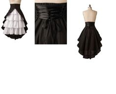 Free Skirt Sewing Patterns ruffle bustle style skirt with over skirt and sash