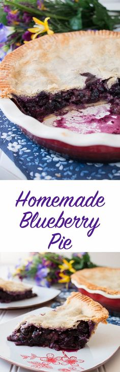 This is a tender flaky pie crust filled with juicy blueberry goodness - just like grandma used to make. This homemade blueberry pie recipe is easy peasy, nothing fancy, just downright good! {Video Recipe}