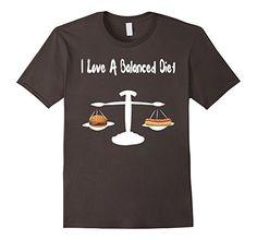 Men's I Love a Balanced Diet Sarcastic Junk Food Mens Humour Graph 3XL Asphalt