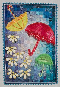 I am delirious and sleepy right now, but this looks good for a card- let your smile be your umbrella....