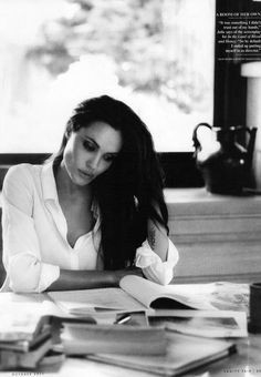 angelina jolie black & white