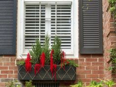 How to Make a Holiday Window Box : Decorating : Home & Garden Television