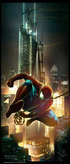 It is Spiderman concept art. This picture was used in a new Spider man film called: Amazing Spiderman. Marvel Comics, Marvel Dc, Marvel Heroes, Amazing Spiderman, All Spiderman, Spiderman Drawing, Comic Book Characters, Comic Book Heroes, Marvel Characters