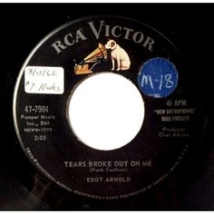 """A nearly forgotten top ten hit from Eddy Arnold. From the Spring of 1962, """"Tears Broke Out On Me"""" hit #7."""