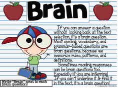 Brain vs. Book -- a good way to differentiate between types of test questions