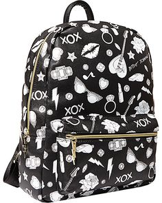 Happy coloring! Betsey Johnson provides the canvas you bring in the color. With markers included, this backpack lets you customize your look