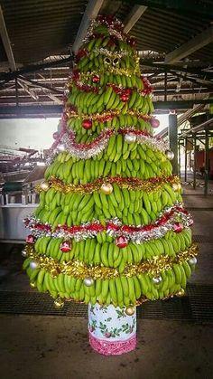 Banana Christmas Tree...Caribbean Style Christmas..Love It Christmas Crack, Grinch Christmas, Christmas Holidays, Christmas Trees, Caribbean Christmas, Green Fig, Caribbean Carnival, Alternative Christmas Tree, Merry Xmas