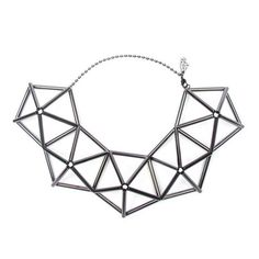 WXYZ Geo Pentagon Necklace (3.135.475 IDR) ❤ liked on Polyvore featuring jewelry, necklaces, accessories, geometric necklace and geometric jewelry
