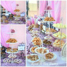 Rent A Tea Party: Dessert Bar! Rent Tea Stands - dessert servers #teapartyideas