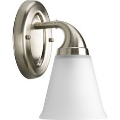 Progress Lighting Silvertone  Lahara Collection 1-light Brushed Nickel Bath Light | Overstock.com Shopping - The Best Deals on Sconces & Vanities