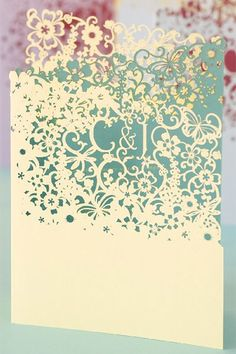 How cool are these laser cut invitations?