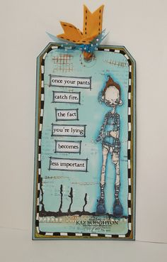 Artwork created by Kaz Boughton using rubber stamps designed by Daniel Torrente for Stampotique Originals