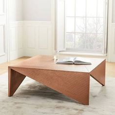 Copper Clad Coffee Table, Copper at West Elm - Coffee Tables ...