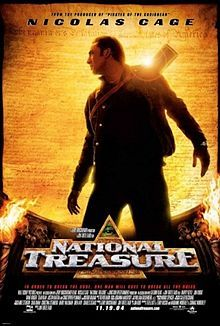 National Treasure is a 2004 American adventure heist film produced and released by Walt Disney Pictures. It was written by Jim Kouf, Ted Elliott, Terry Rossio, and The Wibberleys, produced by Jerry Bruckheimer, and directed by Jon Turteltaub. It is the first film in the National Treasure franchise and stars Nicolas Cage, Harvey Keitel, Jon Voight, Diane Kruger, Sean Bean, Justin Bartha, and Christopher Plummer.