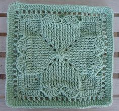 """Celebrating the heart square 12"""" (pattern) by DragonFlyMomof2 Designs"""