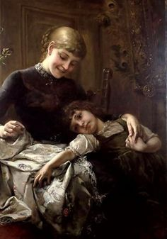 Mother And Child ~ Paul Hermann Wagner  ~ German Painter 1852-1937