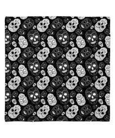 Love this Black & Gray Sugar Skull Bandanna on #zulily! #zulilyfinds