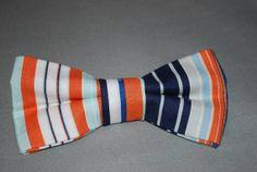 Boy's Bow Tie Orange & Blue by finneousandbean on Etsy, $16.00