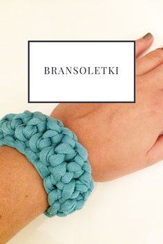 Crochet | T-shirt yarn | Handmade | Bracelet