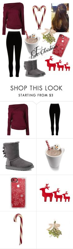 """""""10 Days till Christmas❤️"""" by cdimi777 ❤ liked on Polyvore featuring beauty, Tom Ford, River Island, UGG Australia and Wilton"""